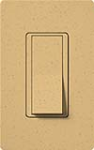 Lutron SC-1PSNL-GS Claro Satin 15A Single Pole Switch with Locator Light in Goldstone