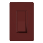 Lutron SC-1PSNL-MR Claro Satin 15A Single Pole Switch with Locator Light in Merlot