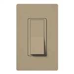 Lutron SC-1PSNL-MS Claro Satin 15A Single Pole Switch with Locator Light in Mocha Stone