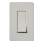 Lutron SC-1PSNL-PD Claro Satin 15A Single Pole Switch with Locator Light in Palladium