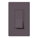 Lutron SC-1PSNL-PL Claro Satin 15A Single Pole Switch with Locator Light in Plum