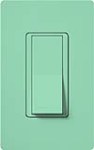 Lutron SC-1PSNL-SG Claro Satin 15A Single Pole Switch with Locator Light in Sea Glass