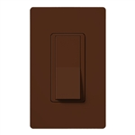 Lutron SC-1PSNL-SI Claro Satin 15A Single Pole Switch with Locator Light in Sienna