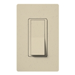 Lutron SC-1PSNL-ST Claro Satin 15A Single Pole Switch with Locator Light in Stone