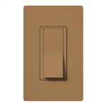 Lutron SC-1PSNL-TC Claro Satin 15A Single Pole Switch with Locator Light in Terracotta