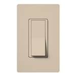 Lutron SC-1PSNL-TP Claro Satin 15A Single Pole Switch with Locator Light in Taupe