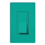 Lutron SC-1PSNL-TQ Claro Satin 15A Single Pole Switch with Locator Light in Turquoise