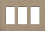 Lutron SC-3-MS Claro Satin Screwless Wallplate 3 Gang in Mocha Stone