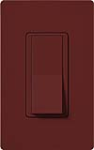 Lutron SC-3PS-MR Claro Satin 15A 3-Way Switch in Merlot