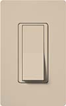 Lutron SC-3PS-TP Claro Satin 15A 3-Way Switch in Taupe