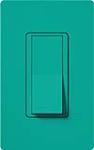 Lutron SC-3PS-TQ Claro Satin 15A 3-Way Switch in Turquoise