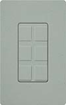 Lutron SC-6PF-BG Claro Satin Field Customizable Multi Port Frame in Bluestone