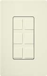Lutron SC-6PF-BI Claro Satin Field Customizable Multi Port Frame in Biscuit