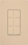 Lutron SC-6PF-DS Claro Satin Field Customizable Multi Port Frame in Desert Stone
