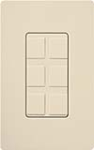 Lutron SC-6PF-ES Claro Satin Field Customizable Multi Port Frame in Eggshell