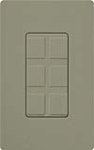 Lutron SC-6PF-GB Claro Satin Field Customizable Multi Port Frame in Greenbriar