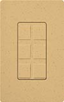 Lutron SC-6PF-GS Claro Satin Field Customizable Multi Port Frame in Goldstone