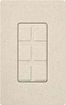 Lutron SC-6PF-LS Claro Satin Field Customizable Multi Port Frame in Limestone