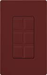 Lutron SC-6PF-MR Claro Satin Field Customizable Multi Port Frame in Merlot