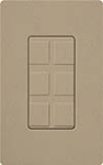 Lutron SC-6PF-MS Claro Satin Field Customizable Multi Port Frame in Mocha Stone