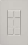 Lutron SC-6PF-PD Claro Satin Field Customizable Multi Port Frame in Palladium