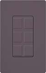 Lutron SC-6PF-PL Claro Satin Field Customizable Multi Port Frame in Plum