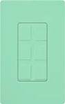 Lutron SC-6PF-SG Claro Satin Field Customizable Multi Port Frame in Sea Glass