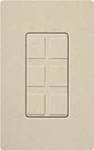 Lutron SC-6PF-ST Claro Satin Field Customizable Multi Port Frame in Stone