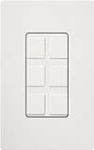Lutron SC-6PF-SW Claro Satin Field Customizable Multi Port Frame in Snow