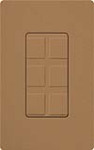 Lutron SC-6PF-TC Claro Satin Field Customizable Multi Port Frame in Terracotta