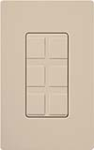 Lutron SC-6PF-TP Claro Satin Field Customizable Multi Port Frame in Taupe