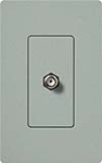 Lutron SC-CJ-BG Claro Satin Single Cable Jack in Bluestone