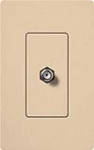 Lutron SC-CJ-DS Claro Satin Single Cable Jack in Desert Stone