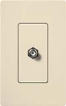 Lutron SC-CJ-ES Claro Satin Single Cable Jack in Eggshell