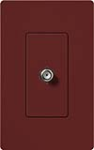 Lutron SC-CJ-MR Claro Satin Single Cable Jack in Merlot