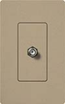 Lutron SC-CJ-MS Claro Satin Single Cable Jack in Mocha Stone