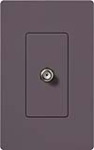 Lutron SC-CJ-PL Claro Satin Single Cable Jack in Plum