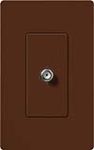 Lutron SC-CJ-SI Claro Satin Single Cable Jack in Sienna