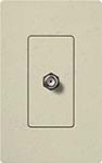 Lutron SC-CJ-ST Claro Satin Single Cable Jack in Stone