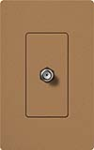 Lutron SC-CJ-TC Claro Satin Single Cable Jack in Terracotta