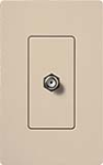 Lutron SC-CJ-TP Claro Satin Single Cable Jack in Taupe