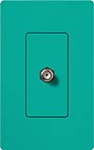 Lutron SC-CJ-TQ Claro Satin Single Cable Jack in Turquoise
