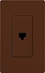 Lutron SC-PJ-SI Claro Satin Single Phone Jack in Sienna