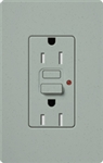 Lutron SCR-15-GFST-BG Claro Satin Self-Testing Tamper Resistant 15A GFCI Receptacle, in Blue Stone