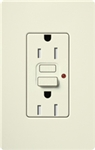 Lutron SCR-15-GFST-BI Claro Satin Self-Testing Tamper Resistant 15A GFCI Receptacle, in Biscuit