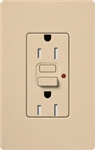 Lutron SCR-15-GFST-DS Claro Satin Self-Testing Tamper Resistant 15A GFCI Receptacle, in Desert Stone