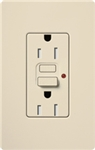 Lutron SCR-15-GFST-ES Claro Satin Self-Testing Tamper Resistant 15A GFCI Receptacle, in Eggshell