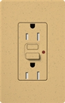 Lutron SCR-15-GFST-GS Claro Satin Self-Testing Tamper Resistant 15A GFCI Receptacle, in Gold Stone