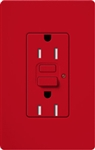 Lutron SCR-15-GFST-HT Claro Satin Self-Testing Tamper Resistant 15A GFCI Receptacle, in Hot