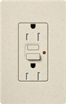 Lutron SCR-15-GFST-LS Claro Satin Self-Testing Tamper Resistant 15A GFCI Receptacle, in Limestone